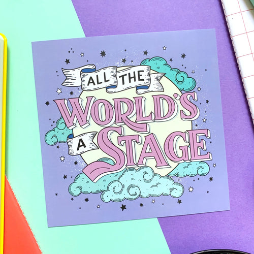 Shakespeare All the World's a Stage Mini Print