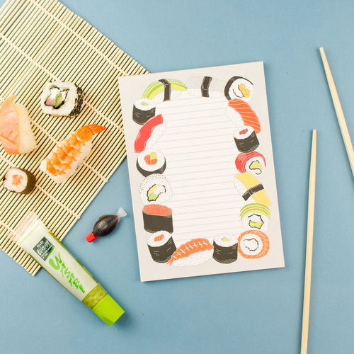 Yummy Sushi Notepad