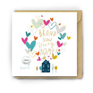 Sparkly New Home Plantable Bean Card