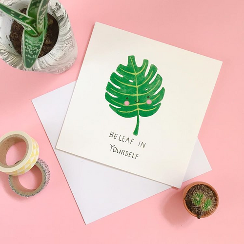 Beleaf In Yourself Card