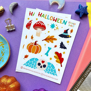 Halloween Vinyl Sticker Sheet