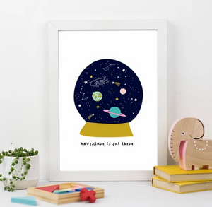 Adventure is out there Space Print