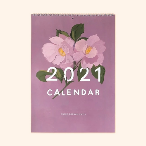 Illustrated Floral 2021 Wall Calendar - A3