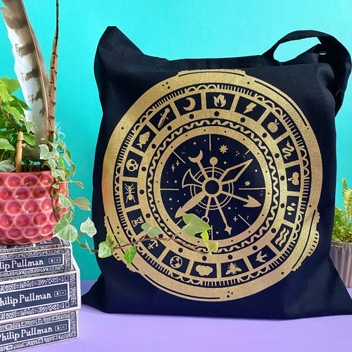 Alethiometer Gold Tote Bag