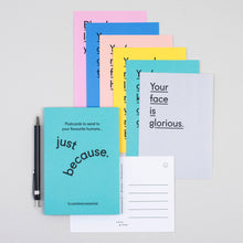 Just Because compliment postcard set