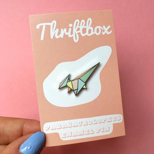 Parasaurolophus Enamel Pin Badge