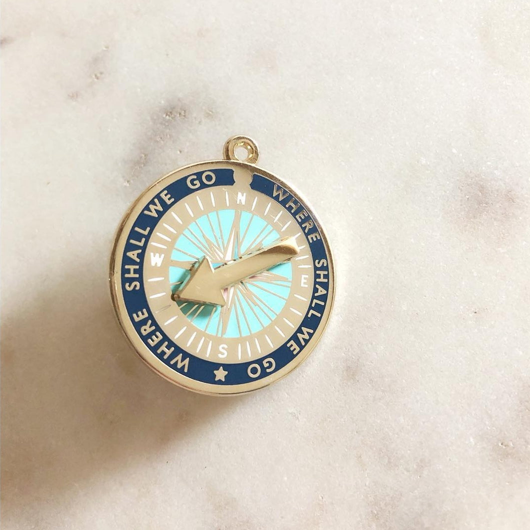 Spinning Compass Enamel Pin