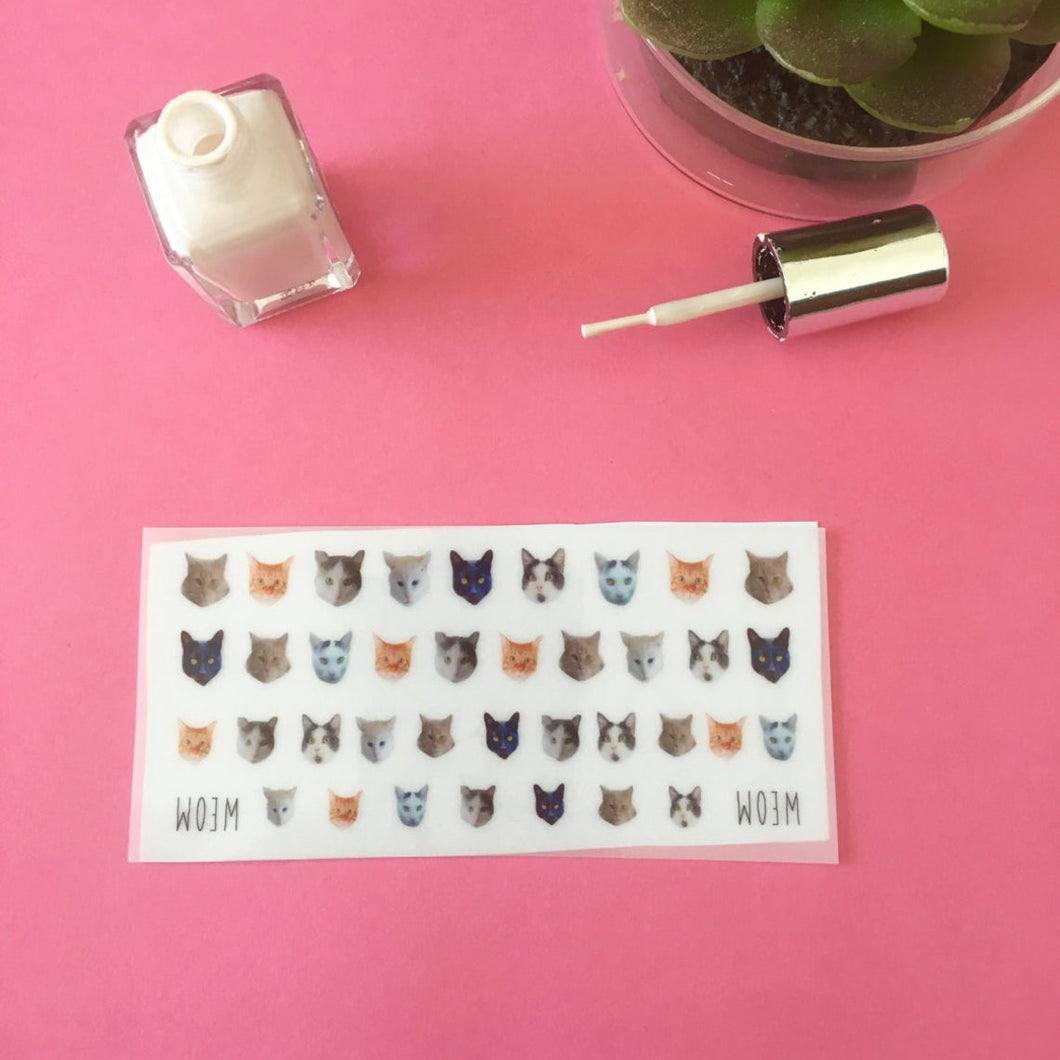 Cute Kitty Cat Nail Decals