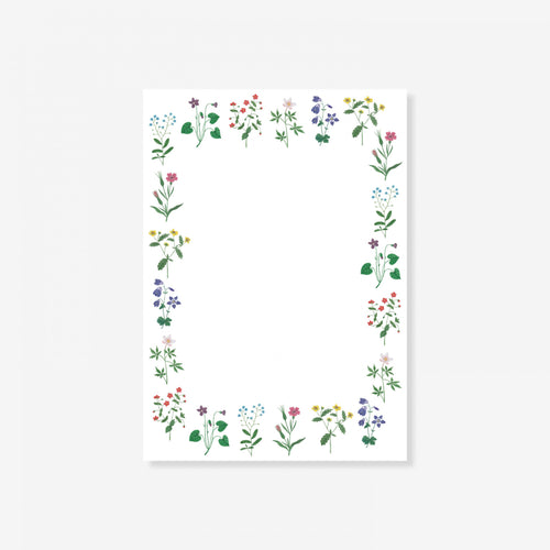 Wildflower Border Notepad