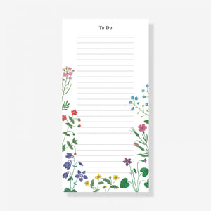 Wildflower To Do List Pad
