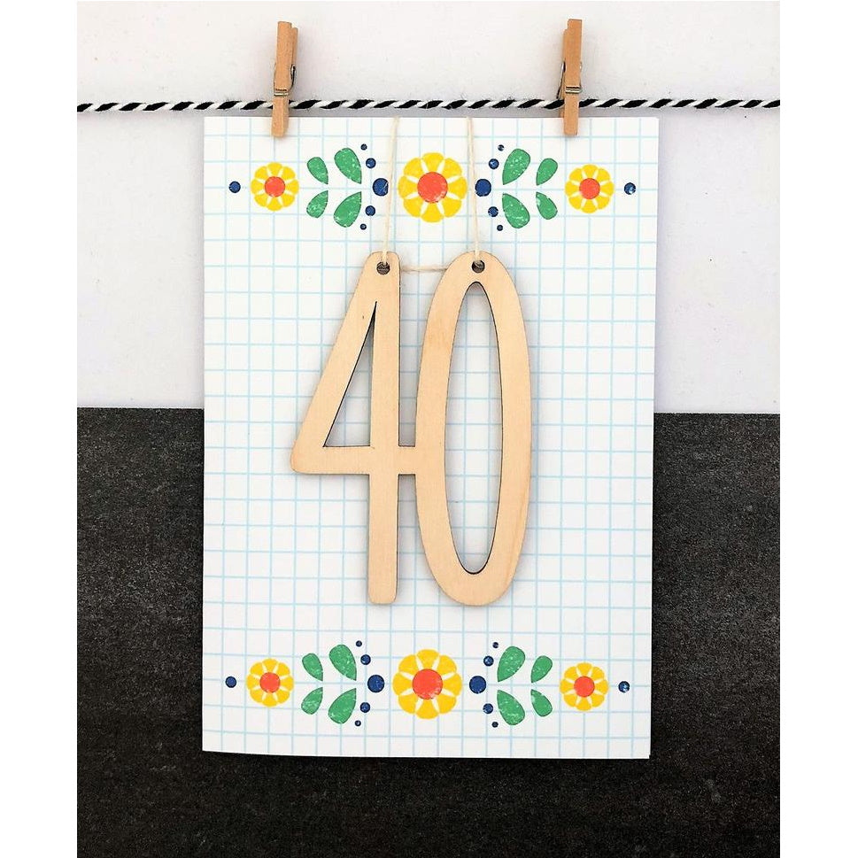 Age 40 Keepsake Card