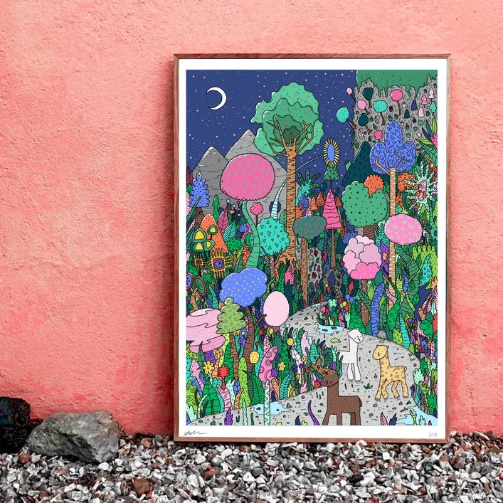 The Alpaca Forest A3 Print