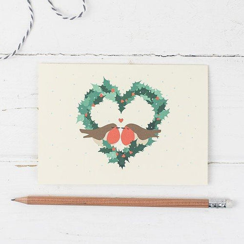 Robin Love Christmas Card