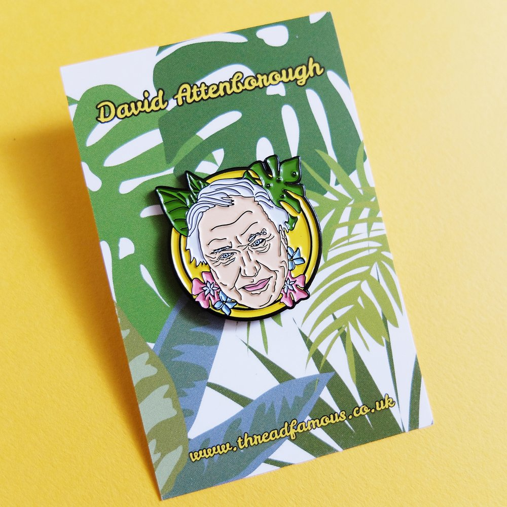 David Attenborough Pin
