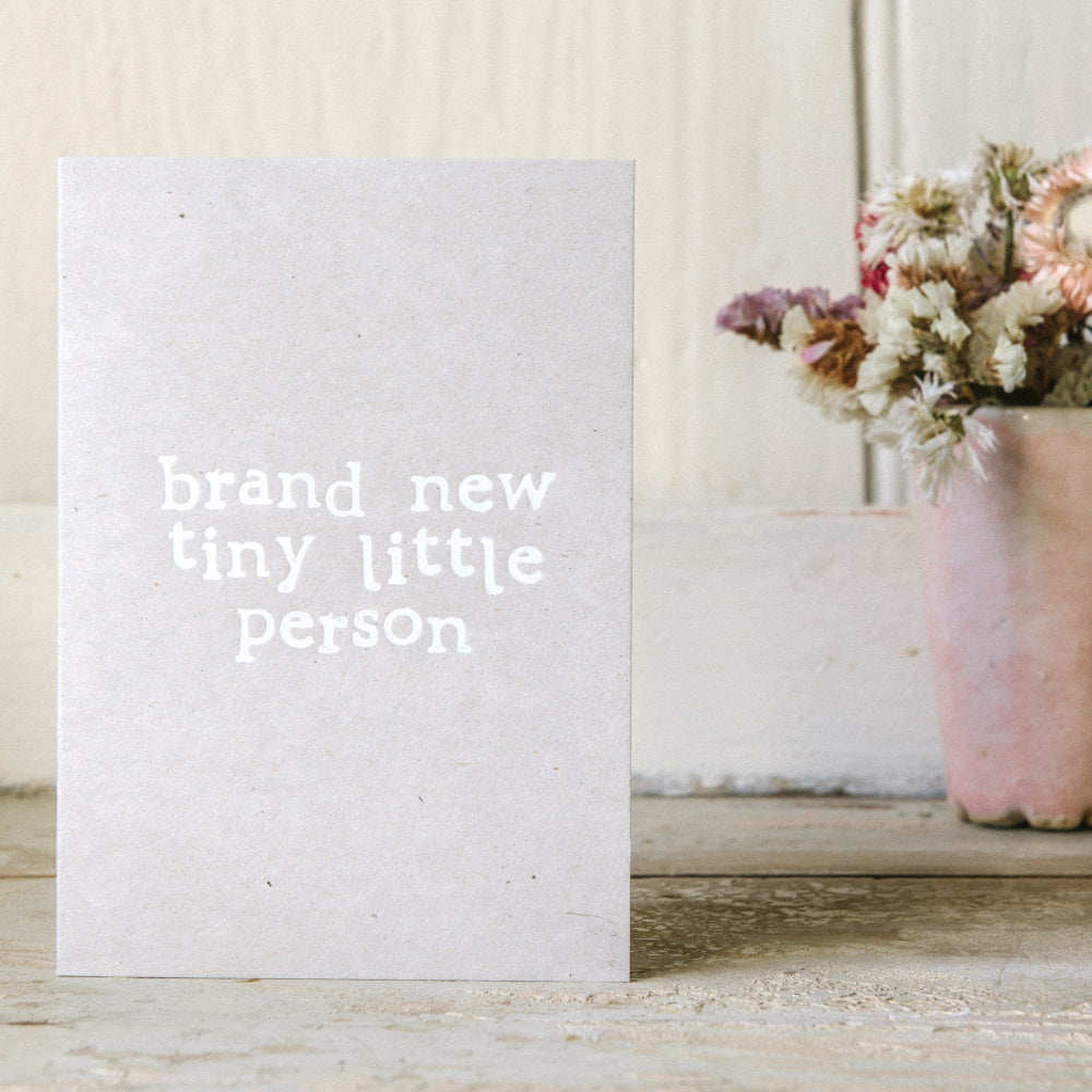 Brand New Little Person Card