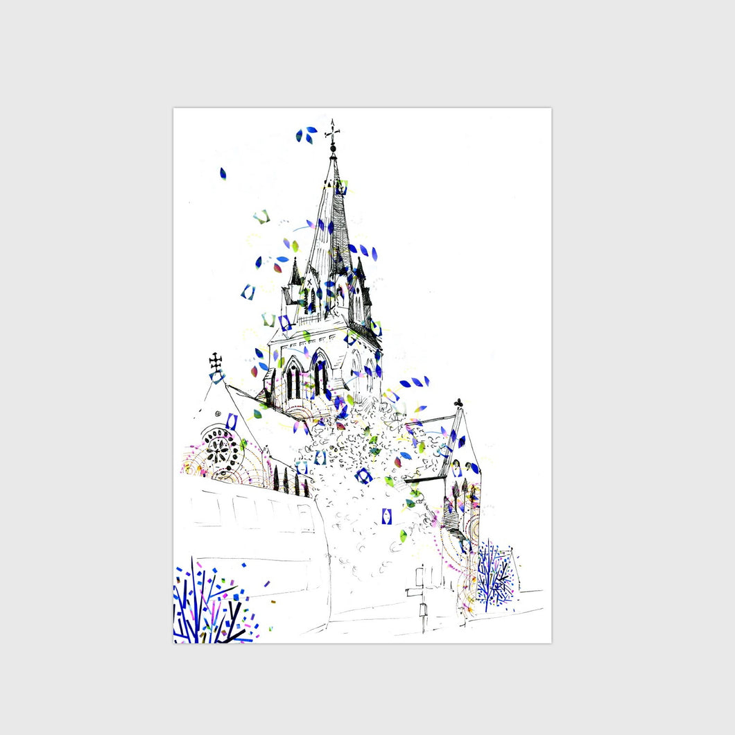 Nottingham Cathedral Print