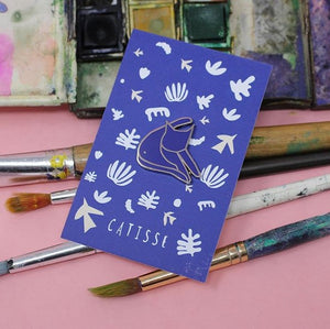 Catisse Cat Enamel Pin Badge