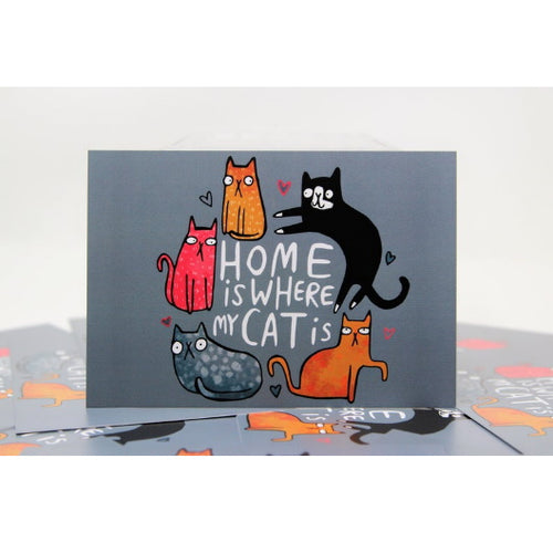 Home Is Where Your Cat Is A6 Postcard