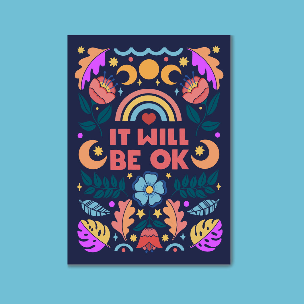 Charity Postcard - It Will Be OK