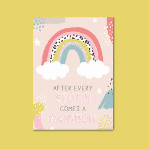 Charity Postcard - After every storm comes a rainbow