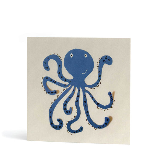 Blue Octopus Card