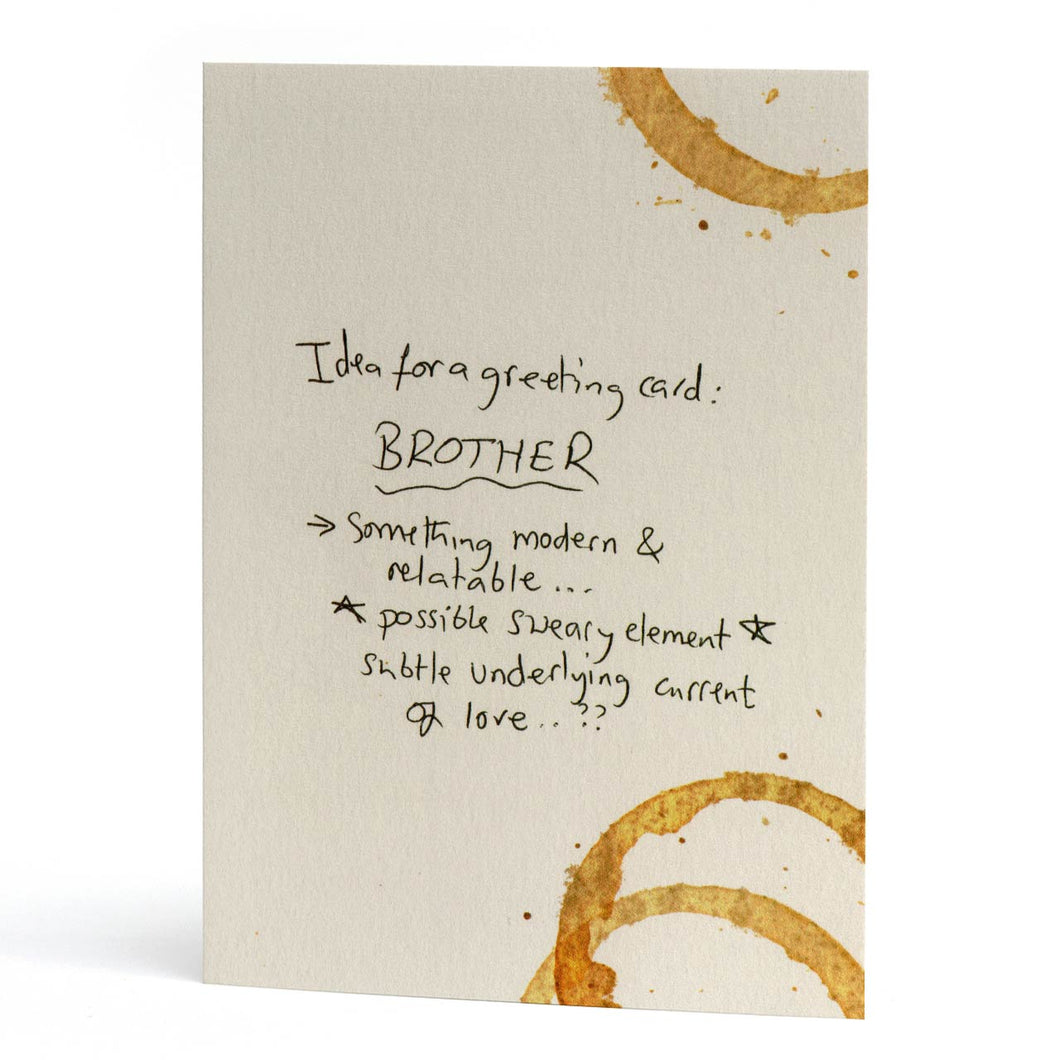 Brother Subtle Love Greeting Card