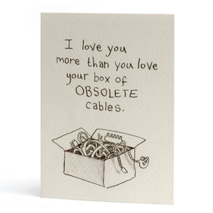 Obsolete Cables Greeting Card