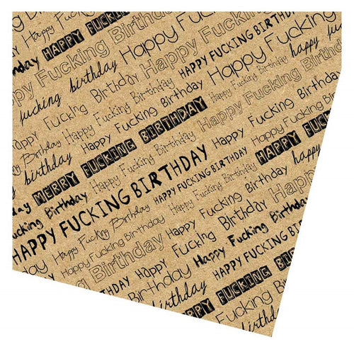 Sweary Birthday Gift Wrap Pack - 2 Sheets 2 Tags