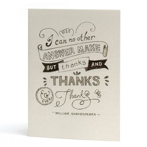 Thanks and Ever Thanks Card