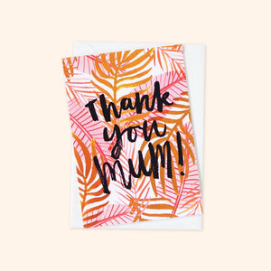 Thank You Mum Plant Card