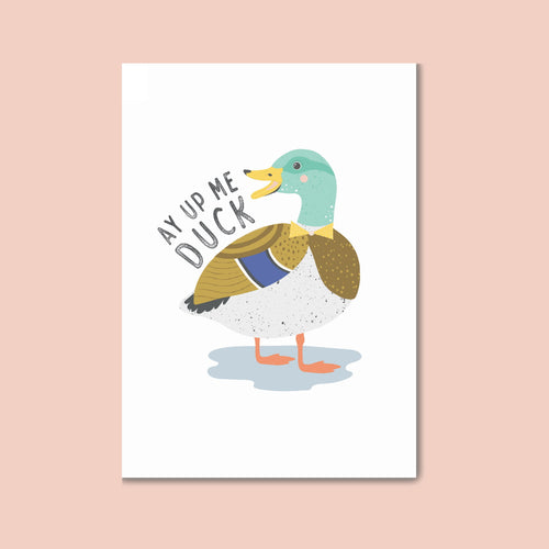 Ay Up Me Duck Postcard