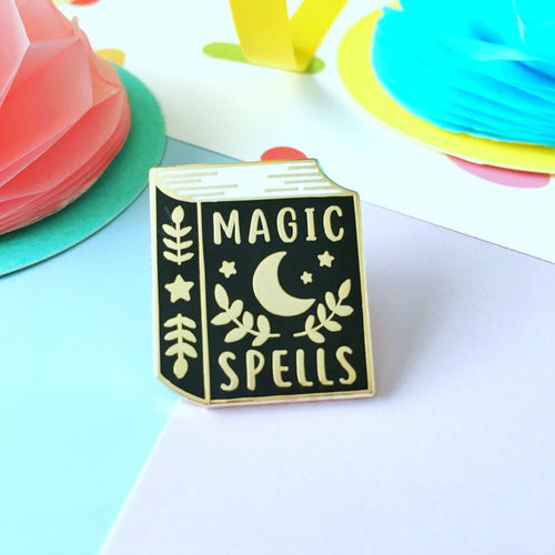 Magic Spells Book Pin