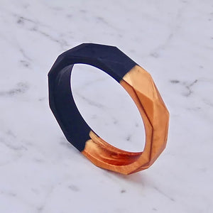 Copper and Black Two Tone Teething Bangle