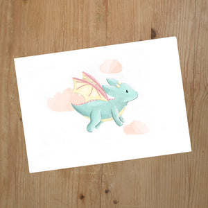 Flying Dragon A5 Print