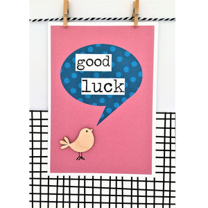 Good Luck Bird Card