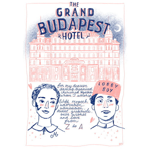 The Grand Budapest Hotel A4 print