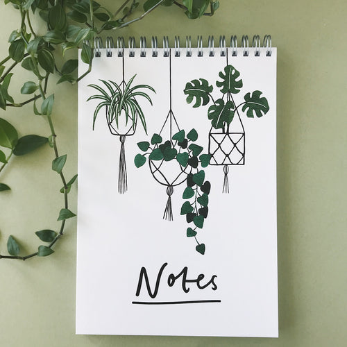 Hanging Plants Notebook