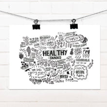 Healthy Snacks A4 Print