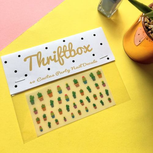Cactus Party Nail Decals