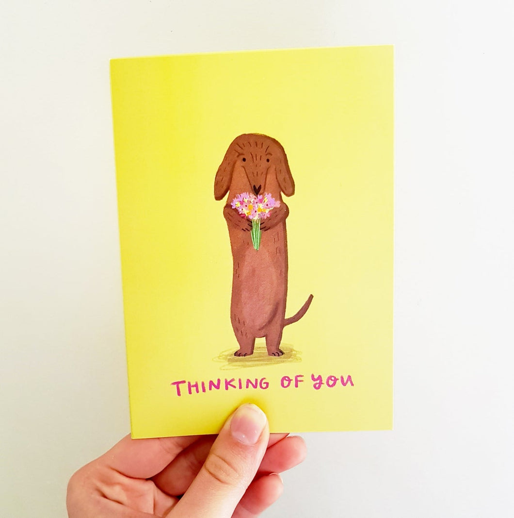 Thinking of you Dachshund Card