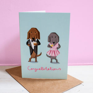 Dachshund Congratulations Card