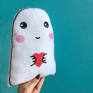 Sensitive Soul Ghost Heart - Plush Scatter Cushion
