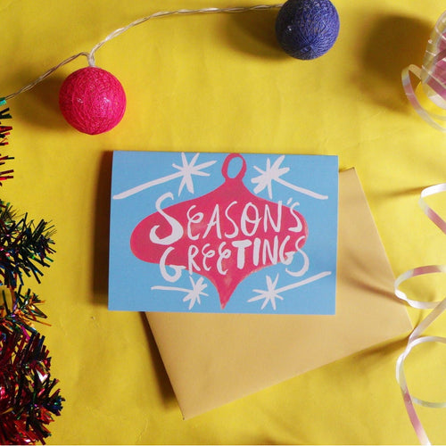 Season's Greetings A6 Recycled Christmas Card