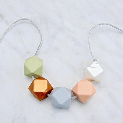 Neutral Tone Teething Necklace