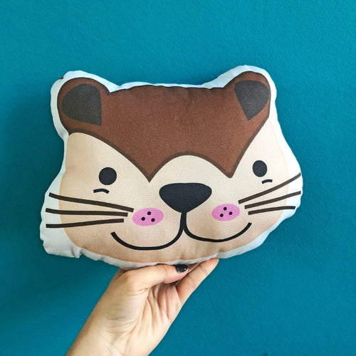 Otter Plush Scatter Cushion