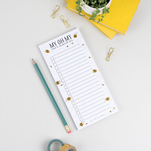 My Oh My What a wonderful day 'Boo Bees' Magnetic Notepad