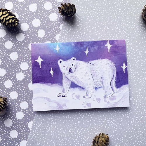 Polar Bear A6 Recycled Christmas Greeting Card