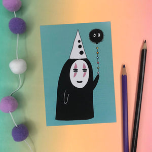 No-Face A6 Postcard