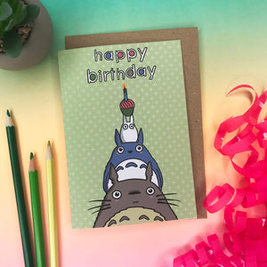 Totoro A6 Greetings Card