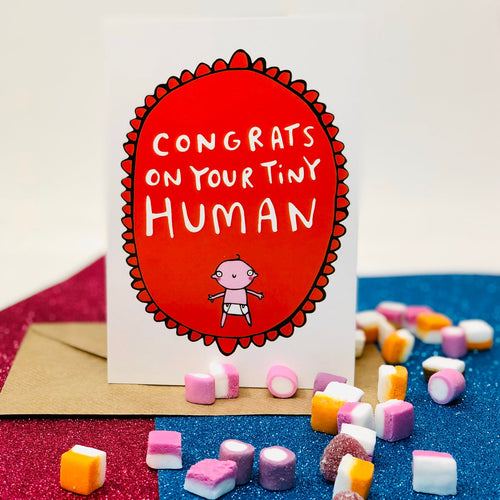 Congrats On Your Tiny Human A6 Card